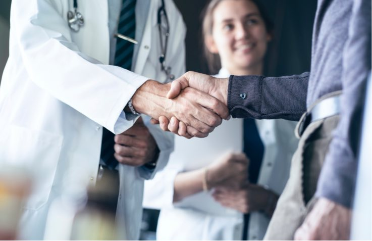 Medical Meeting Shaking Hands